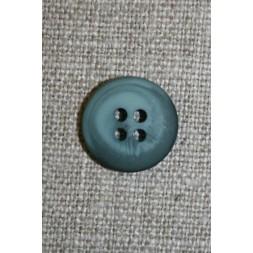 4-huls knap meleret petrol/lys petrol 15 mm.-20