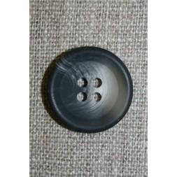 4-huls knap meleret koksgrå/lysegrå 20 mm.-20