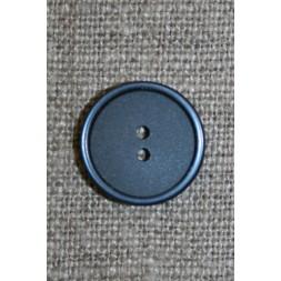 2-huls knap støvet blå 15 mm.-20