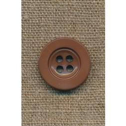 4-huls knap rød-brun, 22 mm.-20