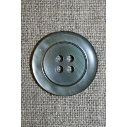 Blank grå-grøn 4-huls knap 23 mm.-20