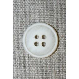 4-huls knap off-white/kit-meleret, 18 mm.-20