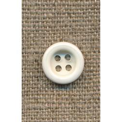 4-huls knap knækket hvid 11 mm.-20