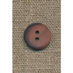 2-huls knap pudder-brun m/skygge, 15 mm.-20