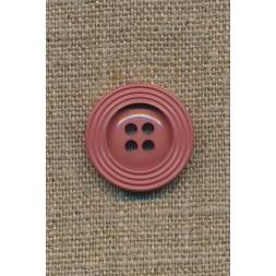 Pudder-brun 4-huls knap m/kant, 22 mm.-20