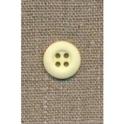 4-huls knap lys gul, 15 mm.-20