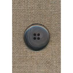 4-huls knap meleret grå/mørkegrå, 23 mm.-20