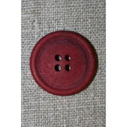 4-huls knap mørk rød granit-look, 23 mm.-20