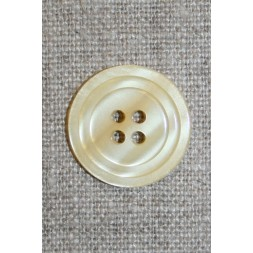 4-huls knap m/cirkel, lysegul 20 mm.-20