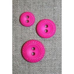 2-huls knap m/mønster-kant i 3 str. pink-20