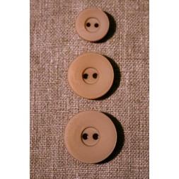 Beige 2-huls-knap, 23 mm.-20