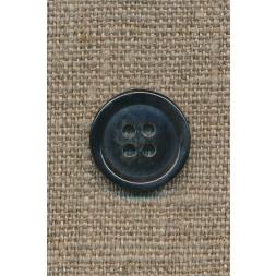 4-huls knap mørkeblå meleret, 18 mm.-20