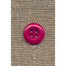 4-huls knap mørk pink, 13 mm.-20