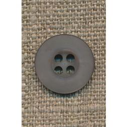 4-huls knap grå-brun, 15 mm.-20