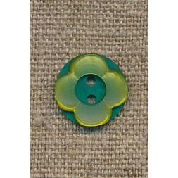 Blomster knap lime/grøn-20