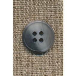 4-huls knap meleret grå/lysegrå, 17 mm.-20