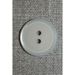 2-huls knap lysegrå, 20 mm.-20