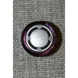 Lilla/gl.sølv knap 15 mm.-20