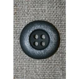 4-huls knap mørkeblå/lysegrå, 18 mm.-20