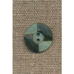 2-farvet knap lysegrøn/army, 18 mm.-20