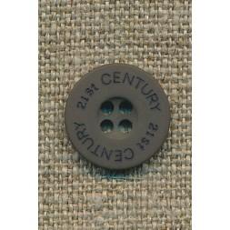 Knap grå-grøn 21st century 15 mm.-20