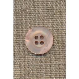 4-huls knap krakeleret lys laks/pudder, 15 mm.-20