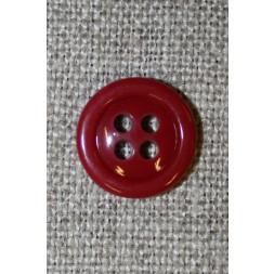 4-huls knap mørk rød 13 mm.-20