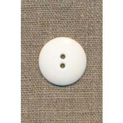 2-huls knap knækket hvid 25 mm.-20