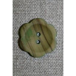 Blomsterknap træ i oliven 23 mm.-20