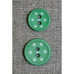 2-huls knap m/stjerner, grøn-20