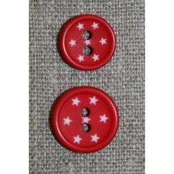 2-huls knap m/stjerner, rød-20