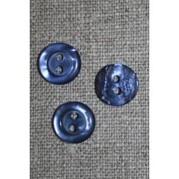 Blank 2-huls knap blå-lilla, 11 mm.-20