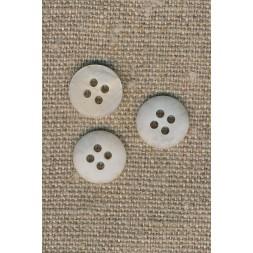 4-huls knap meleret off-white/kit 13 mm.-20