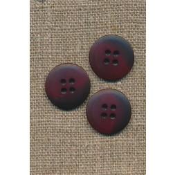 4-huls knap meleret mørk rød/bordeaux, 18 mm.-20