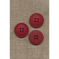 4-huls knap meleret rød 20 mm.-20