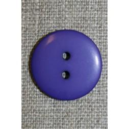 2-huls knap lilla, 20 mm.-20