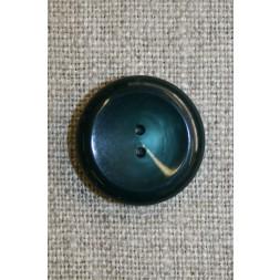 2-huls knap petrol/flaskegrøn, 20 mm.-20