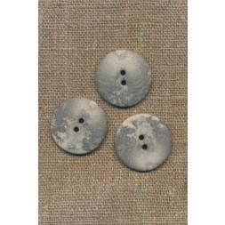 2-huls knap lysegrå i sten-look, 23 mm.-20