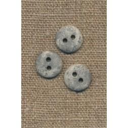 2-huls knap lysegrå i sten-look, 12 mm.-20