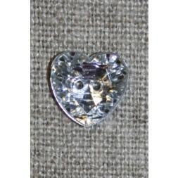 Simili hjerte knap 12 mm.-20