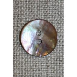 Perlemorsknappudderbrun15mm-20