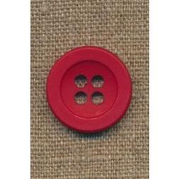 4-huls knap rød 22 mm.-20