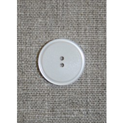 Hvid 2-huls knap, 20 mm.-20