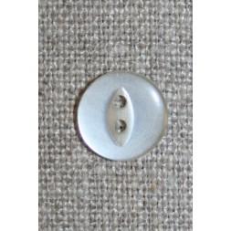 Blank 2-huls knap off-white 13 mm.-20