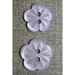 Blomster knap lyselilla i 2 str.-20