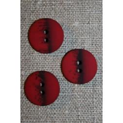 2-huls knap meleret bordeaux sort, 18 mm.-20