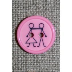 Knap med dreng og pige, lyserød-20