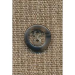 2-huls knap meleret grå 15 mm.-20