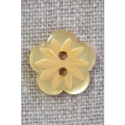 Blomster knap i gul, 15 mm.-20