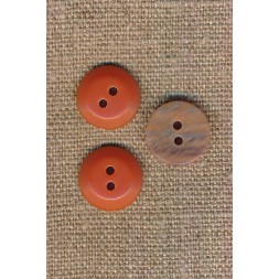 2-huls knap orange beige meleret 15 mm.-20